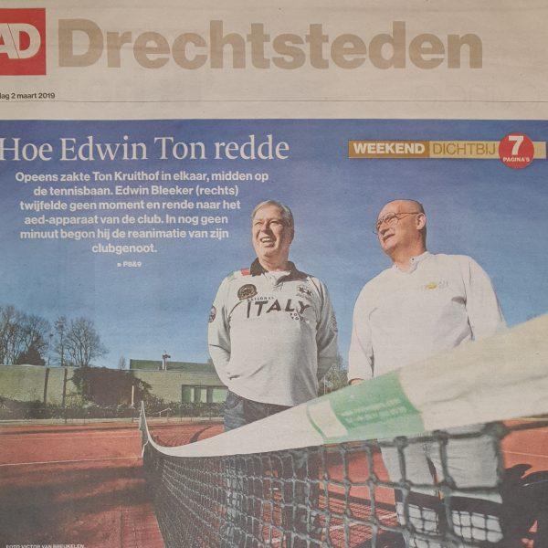 Edwin redt leven van Ton